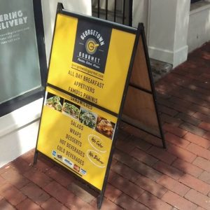 Sidewalk Signs 5c34da42968c4 restaurant aframe menu storefront outdoor indoor custom vinyl mural collection 300x300