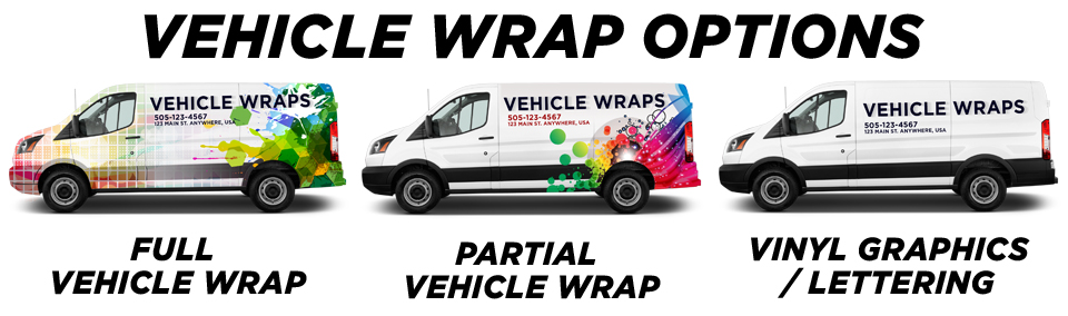 Elmwood Park Vehicle Wraps vehicle wrap options
